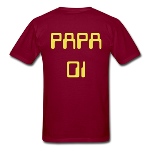 PAPA 01 Men's Basic T-Shirt - burgundy