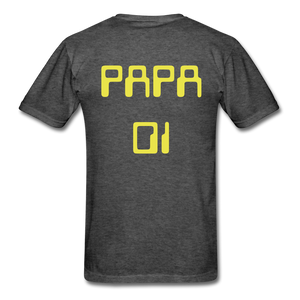 PAPA 01 Men's Basic T-Shirt - heather black