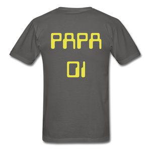 PAPA 01 Men's Basic T-Shirt - charcoal