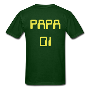 PAPA 01 Men's Basic T-Shirt - forest green