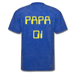 PAPA 01 Men's Basic T-Shirt - mineral royal