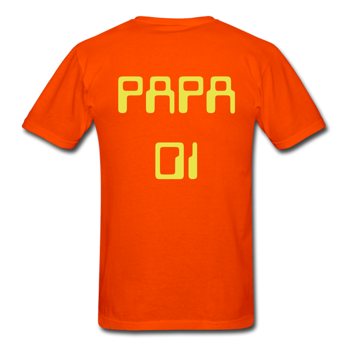 PAPA 01 Men's Basic T-Shirt - orange