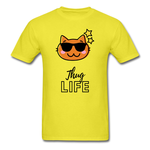Thug Life Basic T-Shirt - yellow