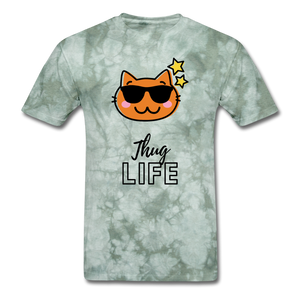Thug Life Basic T-Shirt - military green tie dye