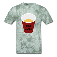 Load image into Gallery viewer, Chai-oholic Basic T-Shirt - military green tie dye