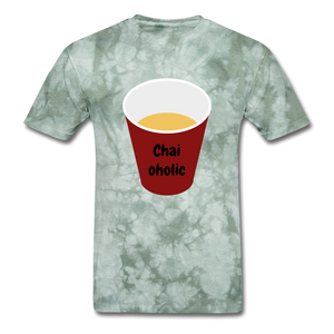 Chai-oholic Basic T-Shirt - military green tie dye