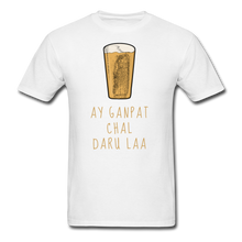 Load image into Gallery viewer, Ay Ganpat Men's Basic T-Shirt - white