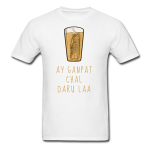 Ay Ganpat Men's Basic T-Shirt - white