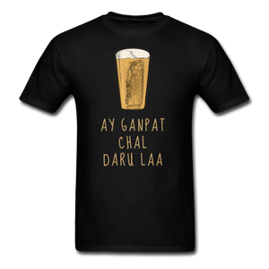 Ay Ganpat Men's Basic T-Shirt - black
