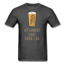 Load image into Gallery viewer, Ay Ganpat Men's Basic T-Shirt - heather black