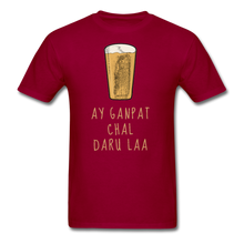 Load image into Gallery viewer, Ay Ganpat Men's Basic T-Shirt - dark red