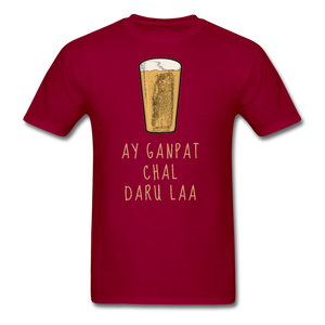 Ay Ganpat Men's Basic T-Shirt - dark red