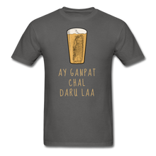 Load image into Gallery viewer, Ay Ganpat Men's Basic T-Shirt - charcoal