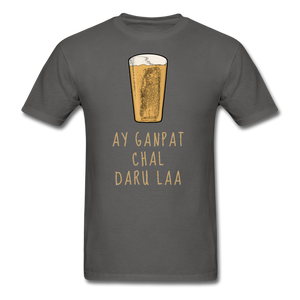 Ay Ganpat Men's Basic T-Shirt - charcoal