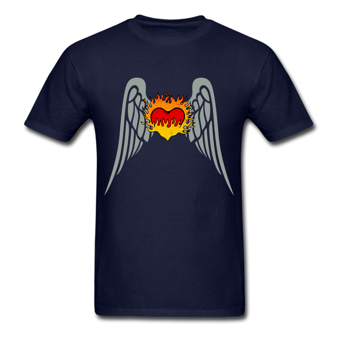 Flying Heart Basic T-Shirt - navy