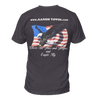 """Stars & Stripes"" Black T-Shirt"