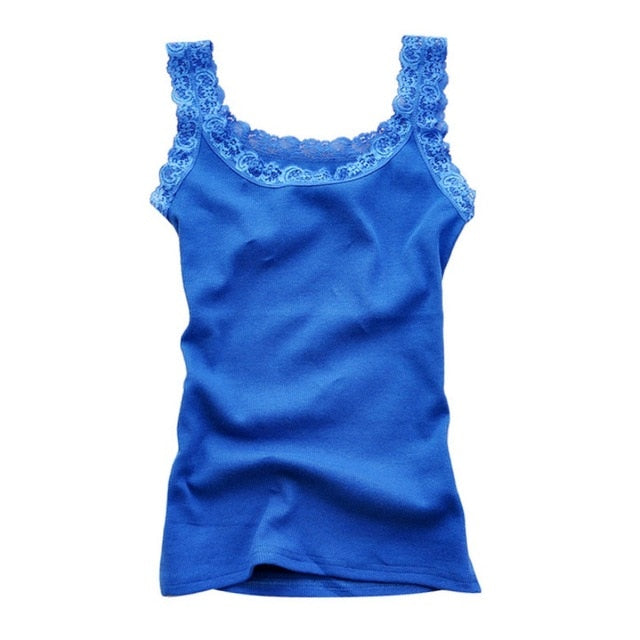 Summer Women Sexy Lace Tank Tops,Multicolors Sleeveless Bodycon Temperament T-shirt Vest Lace Camisole Top