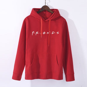 2019 Fall Friends Letter Print Hoodies Women Sweatshirts Harajuku Hooded Sweats Long Sleeve Autumn Women's Clothing Teens Girls