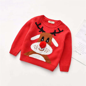 Deer Themed Christmas Sweater,2T to 7T.