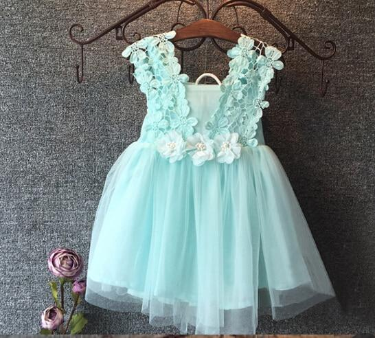 Pearl Lace Flower Gown Fancy Dress - Dream Town Store