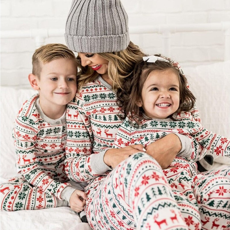 Family Matching Holidays PJs.