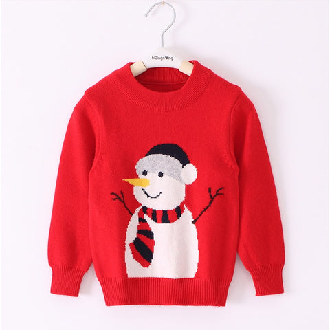 Cute Snowman Sweater,3T to 8T.