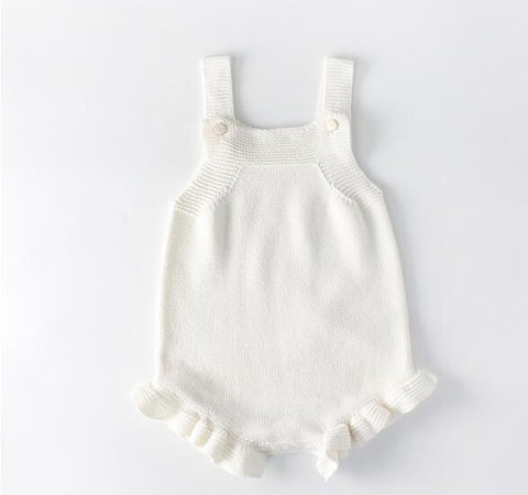 Knitted Baby Romper & Sweater/Cardigan,Cotton,0M to 24M.