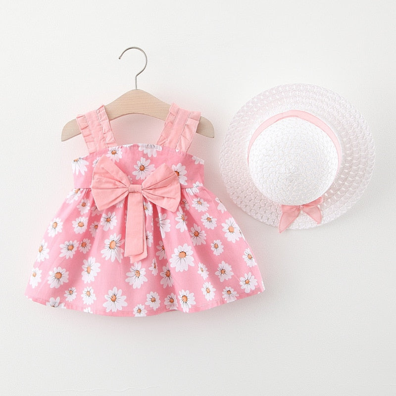 Summer Bow Knot Dress With Hat..! - Dream Town Store
