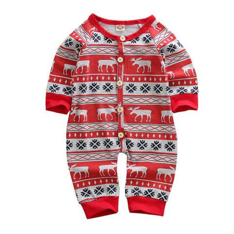 Full Sleeves Christmas Romper,3M to 18M.