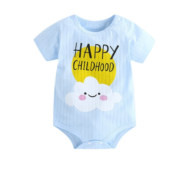 Happy Childhood Romper, Cotton, Size: 3M to 24M.