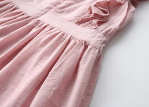 Tassel Hollow Out Design Dress,Pink,Size 2 to 7Y.