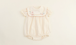 Embroidered Romper, Full & Half Sleeves, 6M to 24M.