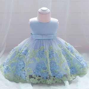 Baby Girls Elegant Floral Lace Dress - Dream Town Store