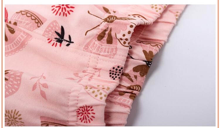Butterfly Printed Full Sleeves PJs,3T to 10T.