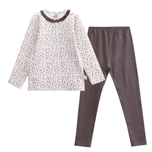 Floral Print Full Sleeves PJs,3T to 10T.