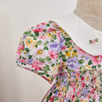 Beautiful Floral Hand Smocked Dress, 12M to 6T.
