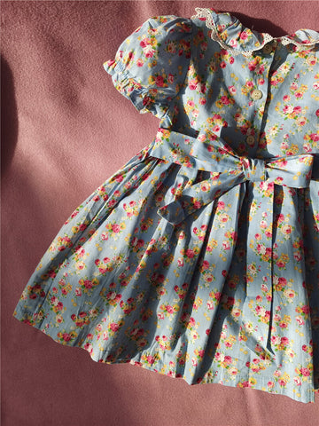 Gorgeous Floral Hand Smocked Dress, 3T-6T.