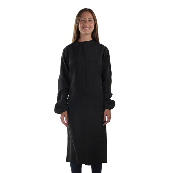 Reusable Medical Gown Black Unisex Made in Canada