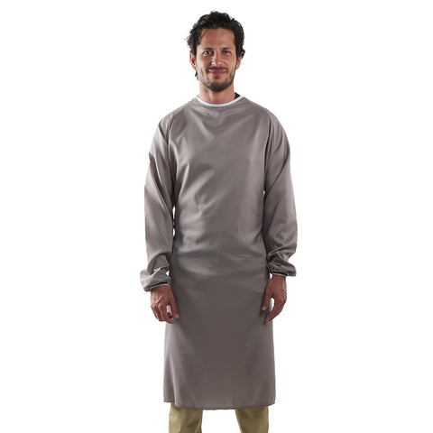Reusable Medical Gown Brown Unisex Made in Canada