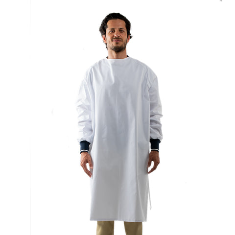 Reusable Medical Gown White Unisex Made in Canada