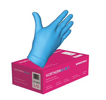 Forcefield Northern Shield Nitrile Disposable Exam Gloves Medical Grade (Box of 100)
