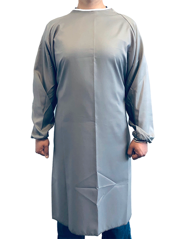 Reusable Medical Gown Gray Unisex Made in Canada