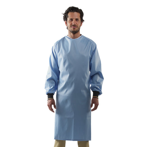 Reusable Medical Gown Blue Unisex Made in Canada