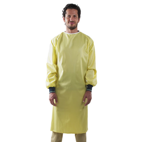 Reusable Medical Gown Yellow Unisex Made in Canada