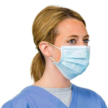 3-Ply Disposable Medical Masks Level 1 (Box of 50) (ear loops)