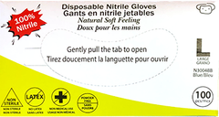 Non-medical disposable Nitrile Gloves (Case of 1000)