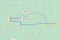Stage 212: Halltown Volunteer Fire Rescue to Miller Fire Department, Sep 29, 11:20 AM - 13.7 miles - 12 min/mile