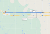 Stage 263: E 1020 Road + S Calumet Road to Cherokee Restaurant, Oct 03, 08:15 AM - 6.9 miles - 12 min/mile