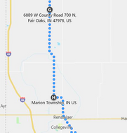 Stage 140: Rensselaer to Marion Township, Sep 27, 06:09 PM - 10.5 miles