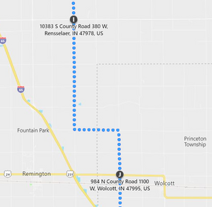 Stage 142: Rensselaer to Wolcott, Sep 27, 09:30 PM - 9 miles